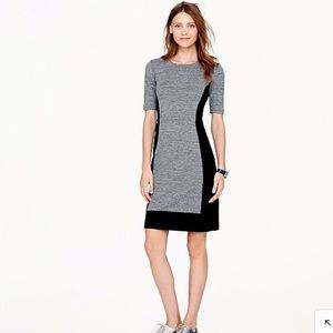 J. Crew Gray Marle Black Dress